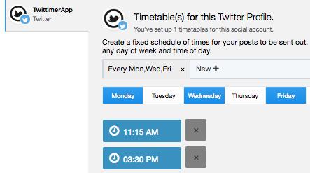 Twittimer • Schedule your tweets   Auto tweet